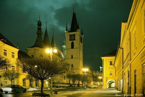 Night in the Czech Republic. Litoměřice
