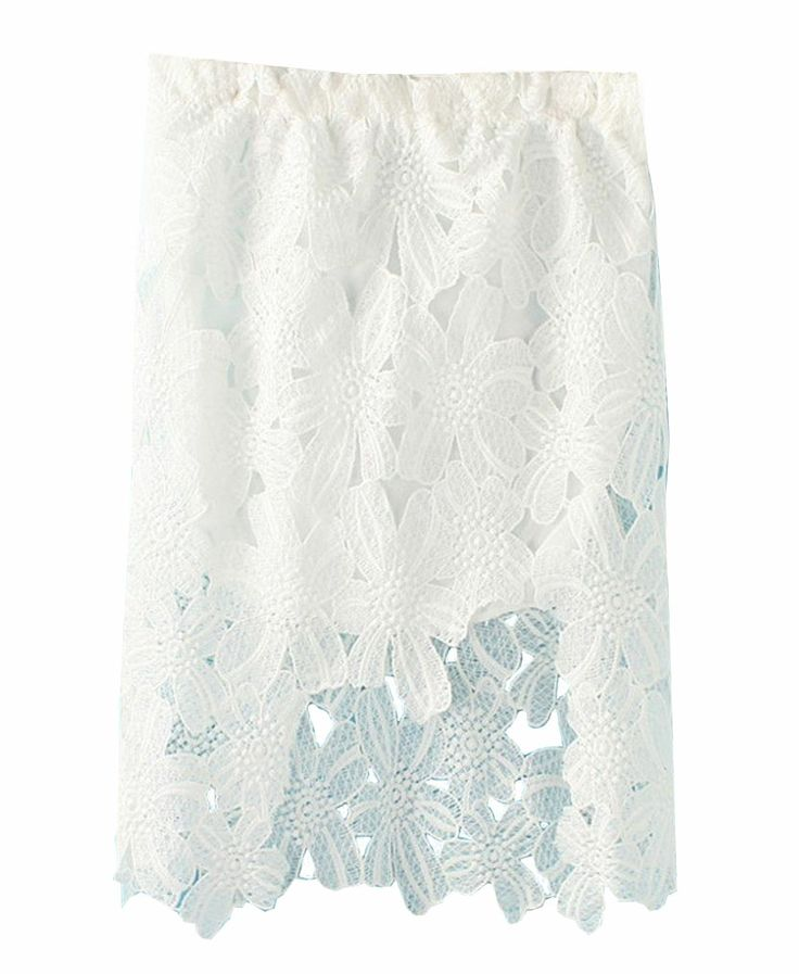 Pure Color Lace Skirt