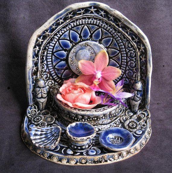 Magical Moon Grotto  Tea Light Goddess Shrine  by LastChantsStudio, $51.00