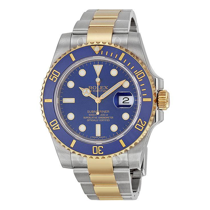 Rolex Submariner Blue Index Dial Oyster Bracelet Men's Watch 116613BLSO - Submariner - Rolex - Shop Watches by Brand - Jomashop