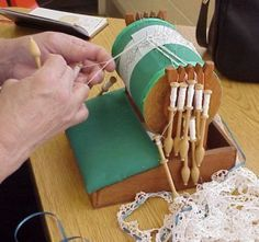 """""""Mundillo"""" Puerto Rican Bobbin Lace- family crafting traditions are a great way to share with new generation at family reunions."""