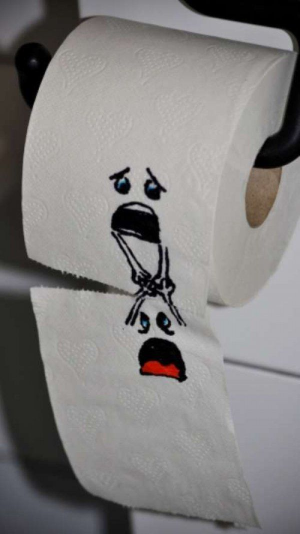 My mom is currently drawing this on our toilet paper in the main bathroom. I love her. @Cynthia Morris