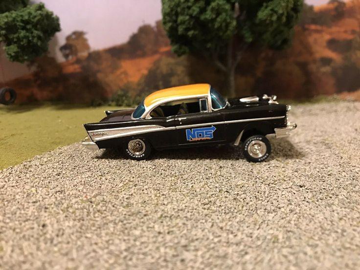 1957 Chevy Bel Air Gasser Drag Car Custom Built 1/64 Scale