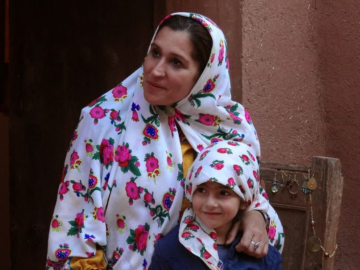 Villagers from Abyaneh, the traditional village of Iran