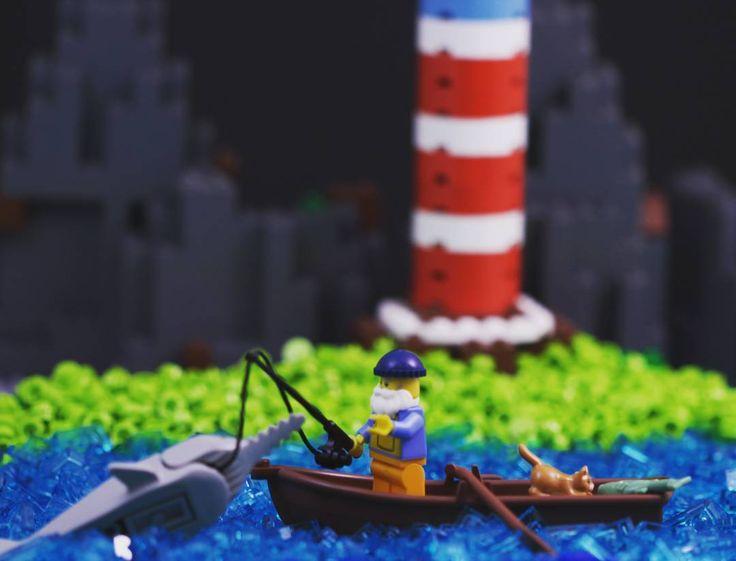 The Old Man and the Sea!  #WeLoveWhatYouBuild #wlwyb #lego #legostagram #toys #toyslagram #toystagram #design #lego365  #legofun  #legophotography  #legomoc  #legoart  #awesome  #minifigure  #vintage  #creative  #classics  #art  #creation  #afol  #instatoys  #brickcentral  #build  #utensils  #favoritebook  #book  #hemingway  #theoldmanandthesea  #version