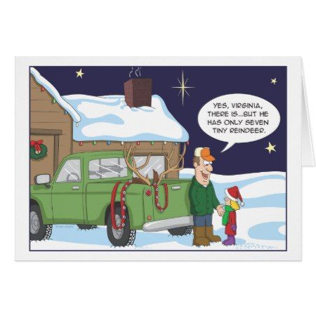 Funny Christmas card, deer hunting humor Card - tap, personalize, buy right now!