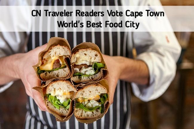 Cape Town Voted Best Food City by CN Traveler