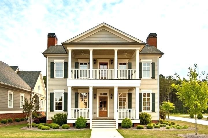 House Front Porch Design Two Story House Double Porches Dream Home Home Plans With Front Porch Designs For House Front Porch House With Porch Porch House Plans