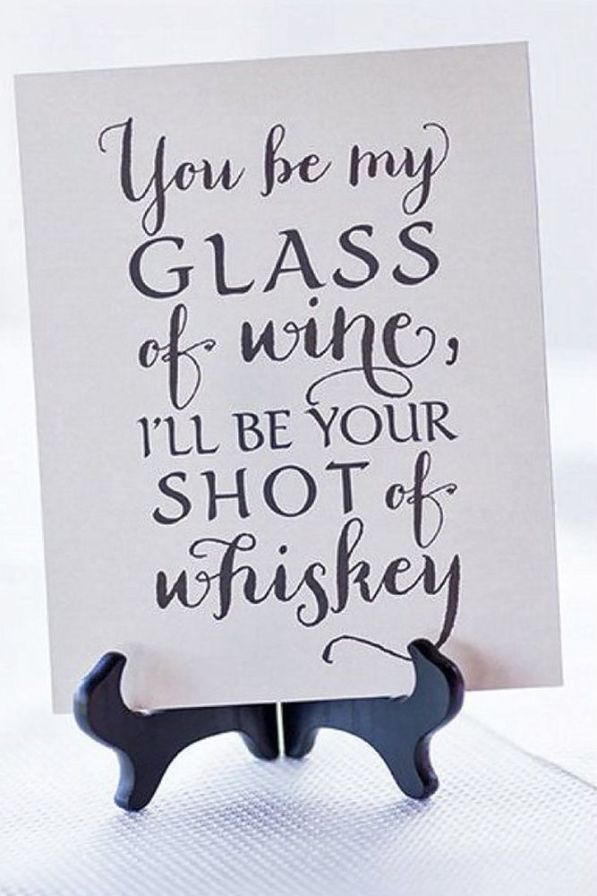 Clever And Funny Wedding Signs For Your Reception ❤ See more: http://www.weddingforward.com/clever-funny-wedding-signs/ #weddings