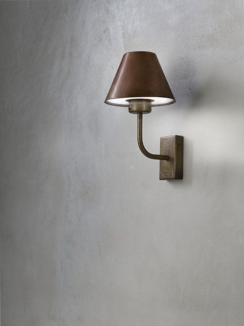 Fiordo | Outdoor wall lamps and floor lamps made of brass and copper
