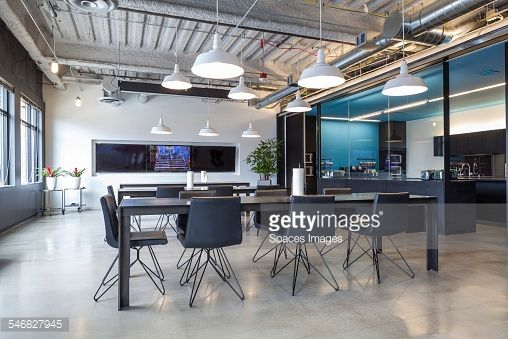 Stock Photo : Tables in open office dining area