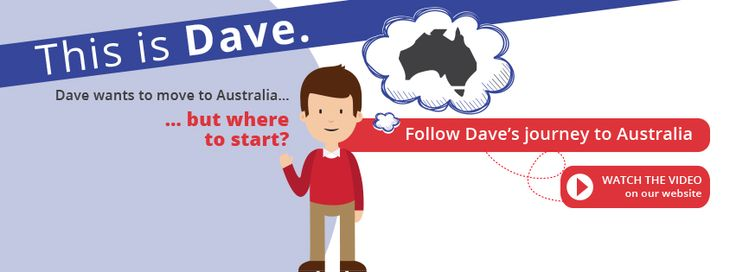 Migrating to Australia from South Africa Meet Dave. He wants to move to Australia but doesn't know where to get started. Can you relate? Watch the full video and follow Dave's journey to Australia. http://ow.ly/THF5u