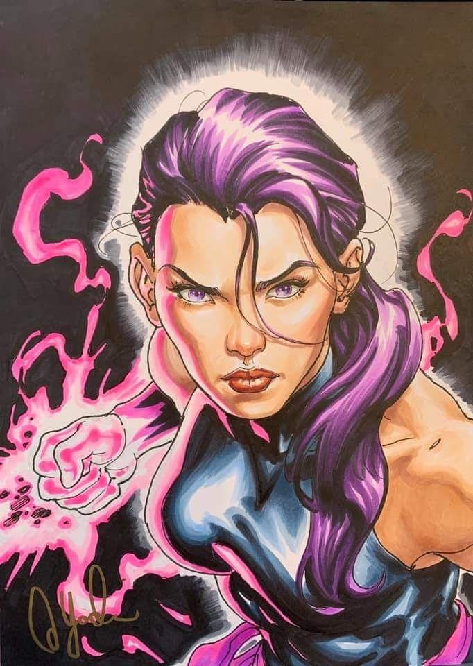 X Men No More Humans Salvador Larroca Psylocke Comic Art Comics Girls