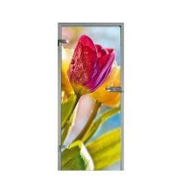 Drzwi szklane kolorwe GIPSY KINGS TULIPANO