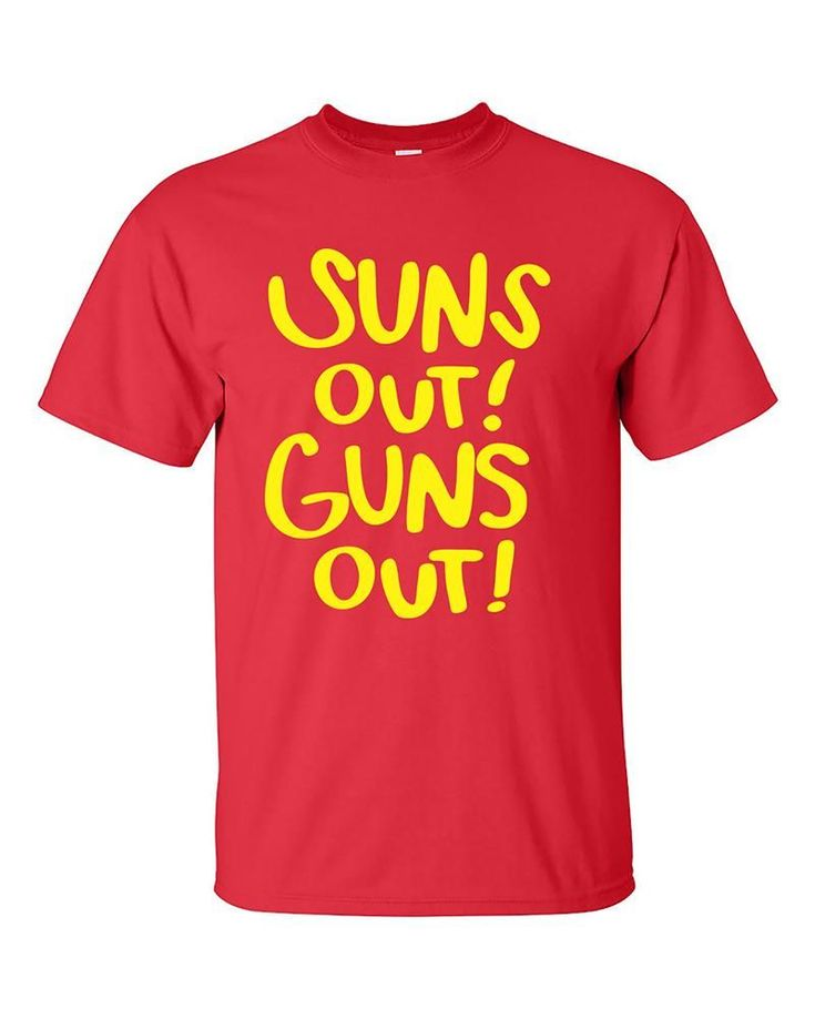 Suns Out! Guns Out Funny Fitness Gym Workout T-Shirt #FunnyFitness