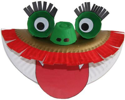 Dragon paper plate craft.