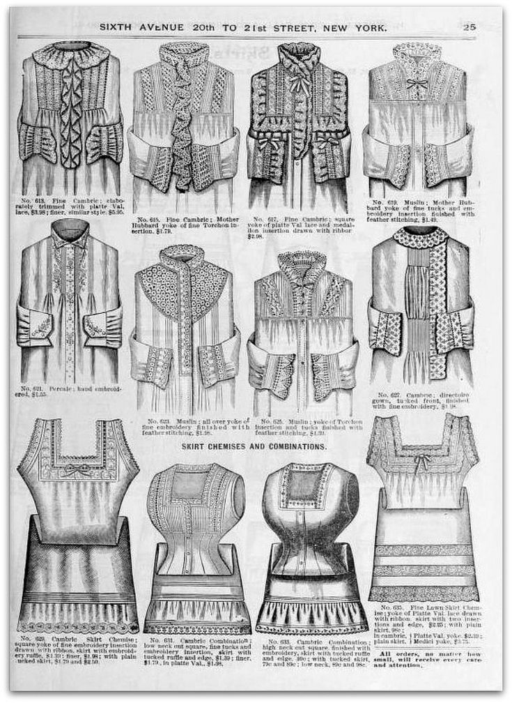 1890 91 Vintage Fashion H O Neills Fall Winter Catalogue Page 25 Victorian Ladies Nightgowns Nightgowns For Women Vintage Fashion Victorian Era Fashion