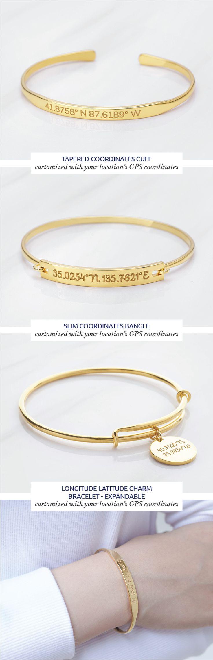 Coordinates bracelets - Gold GPS Coordinates Bracelet - Personalized Latitude Longitude Bracelet - Silver Coordinates Jewelry - Graduation Gift - Lat lo bracelet - Anniversary gifts