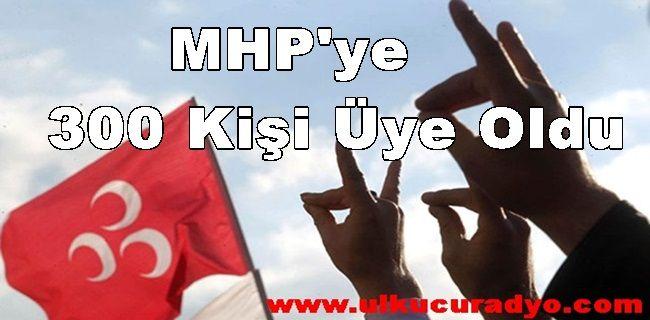 Ülkücü Yemini Ettiler MHP'ye 300 Kişi Üye Oldu