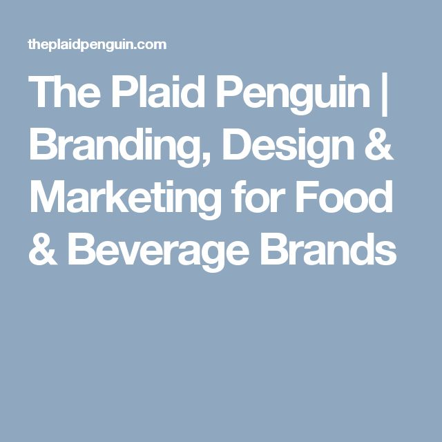 The Plaid Penguin | Branding, Design & Marketing for Food & Beverage Brands