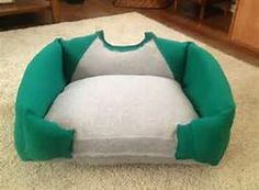 Long-sleeve T-shirt or sweater made into dog bed - Bing Images