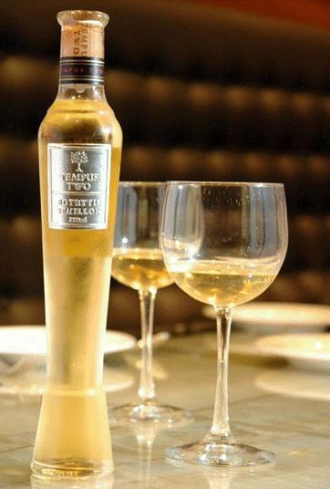 chilled sticky muscat wine a perfect pairing to a decadent dessert...