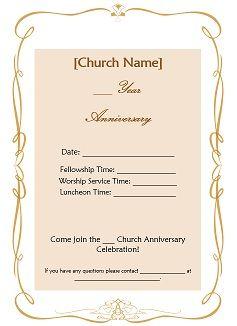 Church Anniversary Ideas available free such as Church ...