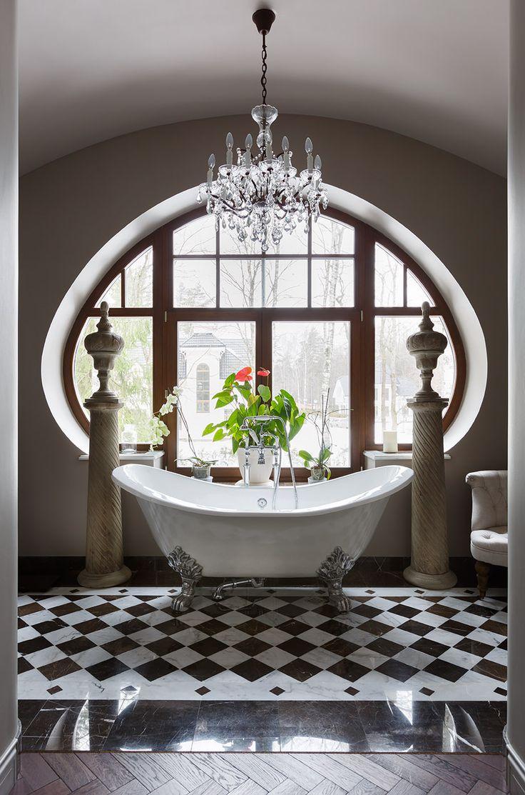 Керамика   Французская кладка   Шахматная доска   Загородный дом   Ванная комната