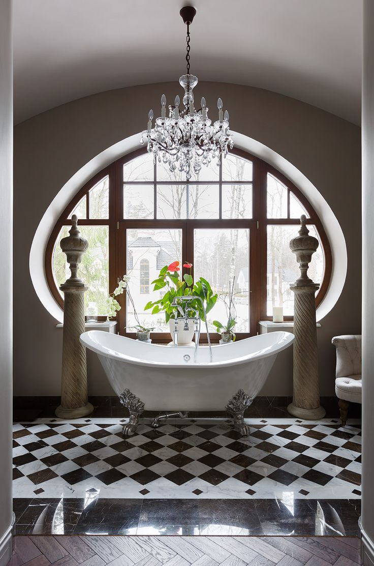 Керамика | Французская кладка | Шахматная доска | Загородный дом | Ванная комната