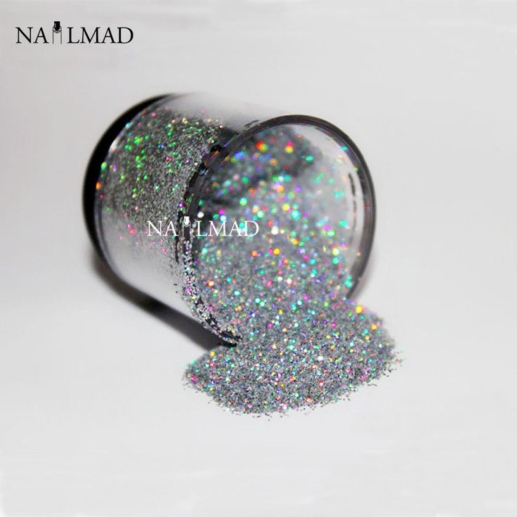 0.2mm Holographic Glitter Dust Powder Nails Art Holo Glitter Powders Nail Glitters 3ml