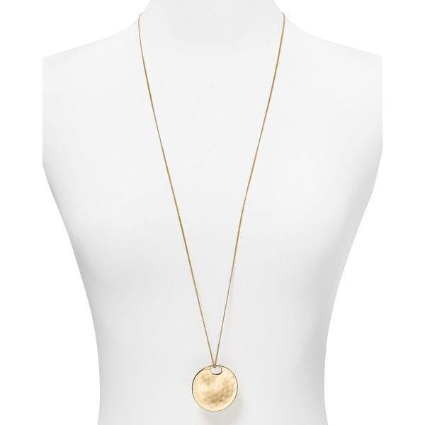 "Robert Lee Morris Soho Hammered Circle Toggle Necklace, 17-34"""