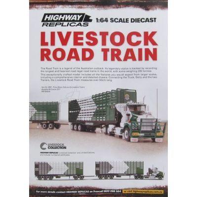 Australian Livestock Roadtrain - Highway Replicas 12007 McIver Group Transport
