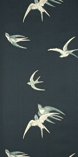 Swallows (W) by Sanderson Wallpapers | Store — FABRIC STUDIO STORE