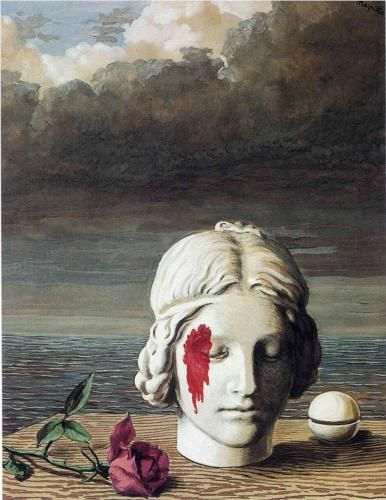 Memory - Rene Magritte Completion Date: 1948 Place of Creation: Brussels, Belgium Style: Surrealism Period: Mature Period Genre: allegorical painting Technique: oil Material: canvas