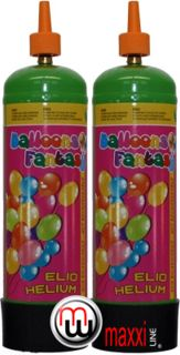 MaxxiLine Helium bottles | Small Balloon Fantasy disposable helium tanks for foil and latex ballon gas, airswimmers