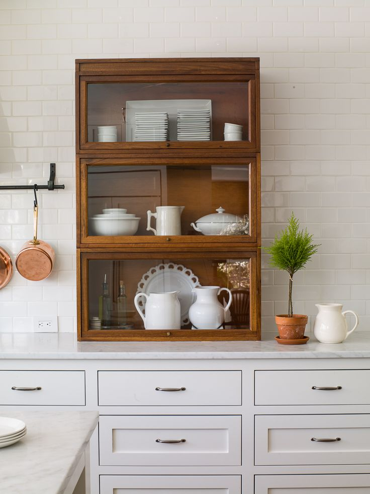 barrister bookcase in the kitchen