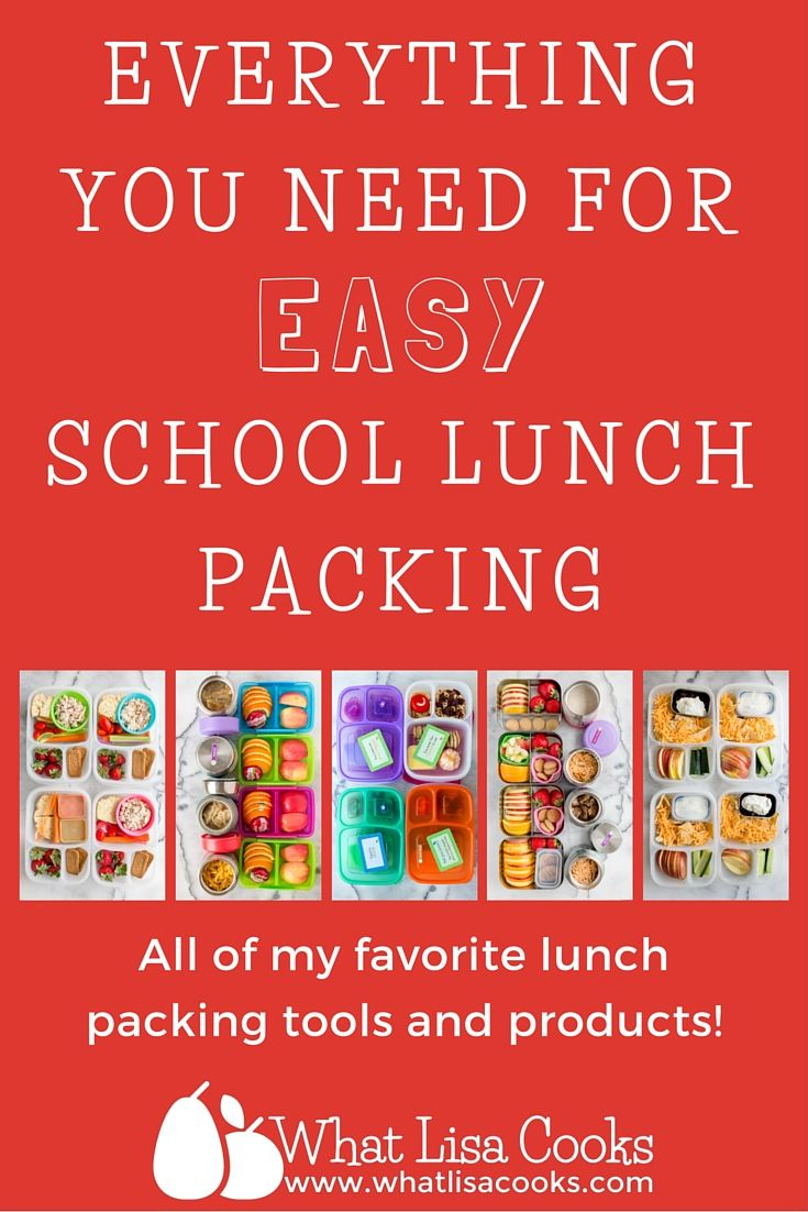 Everything you need for Easy school lunch packing - containers galore with ideas and item explainations  from whatlisacooks.com