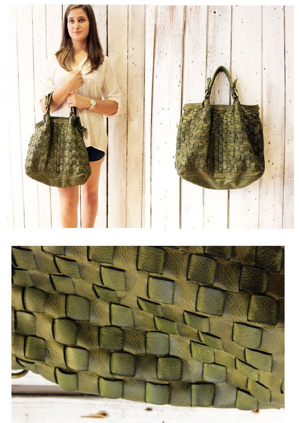 """Handmade woven leather bag """"INTRECCIATO 72"""" di LaSellerieLimited su Etsy"""