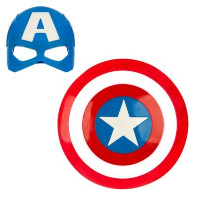 Captain America Mask And Shield Set