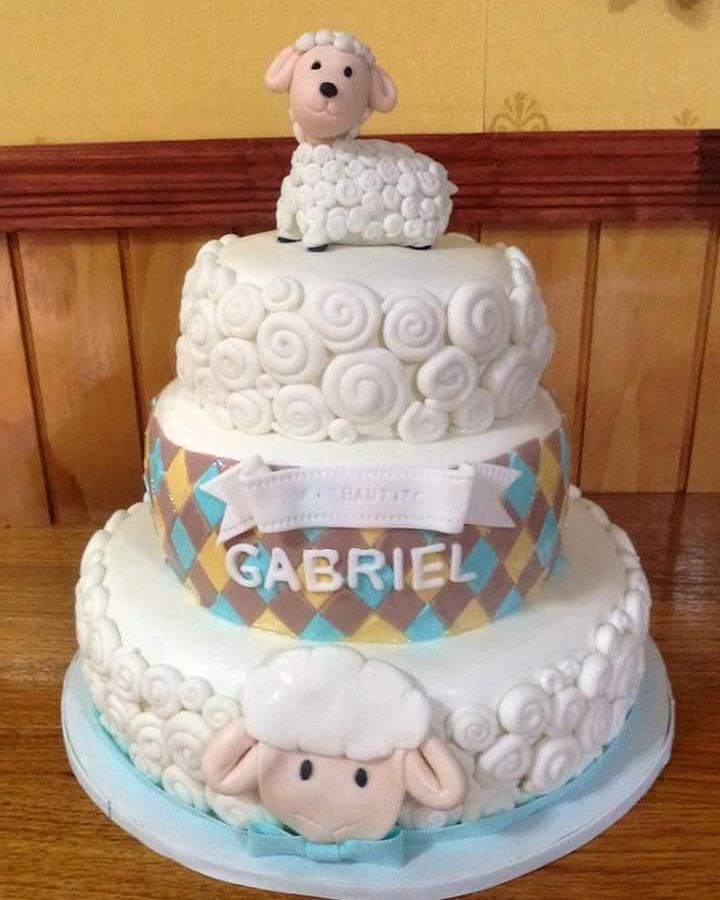 #Bautizmo #lamb #fondant #cake by Volován Productos #instacake #puq #Chile #VolovanProductos #Cakes #Cakestagram #SweetCake