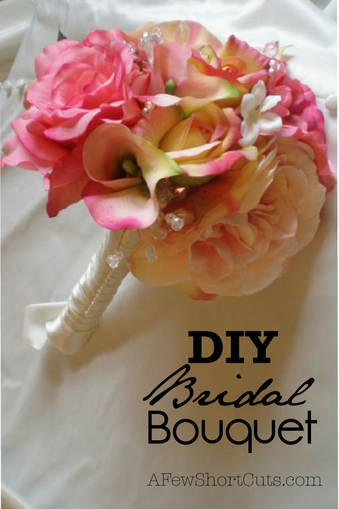 diy bridal bouquet wedding ways to save money and bouquets. Black Bedroom Furniture Sets. Home Design Ideas