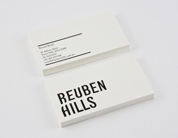 Logo and business card designed by Luke Brown for coffee roastry and cafe Ruben Hills