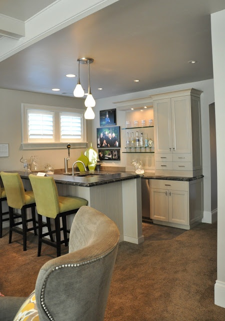 23 best images about basement bar ideas on pinterest for Basement kitchenette with bar
