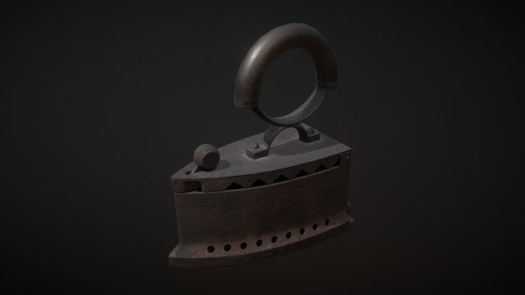Coal Iron. Modeled in 3ds Max, textured in Substance Painter