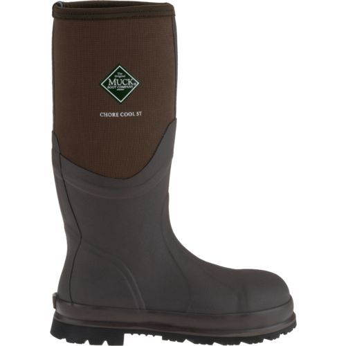 Muck Boot Adults' Chore Cool Steel Toe Work Boots (Brown, Size 12) - Crocs And Rubber Boots at Academy Sports