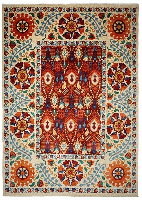 Suzani Collection Oriental Rug, 9'2
