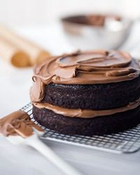 "Double Chocolate Layer Cake | ""This is the most fabulous chocolate cake"