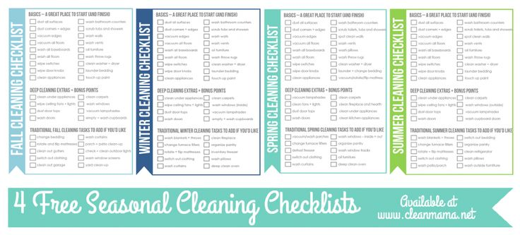 Clean with the seasons with this FREE printable for deep cleaning. So much easier to spread it out versus doing it all at once!