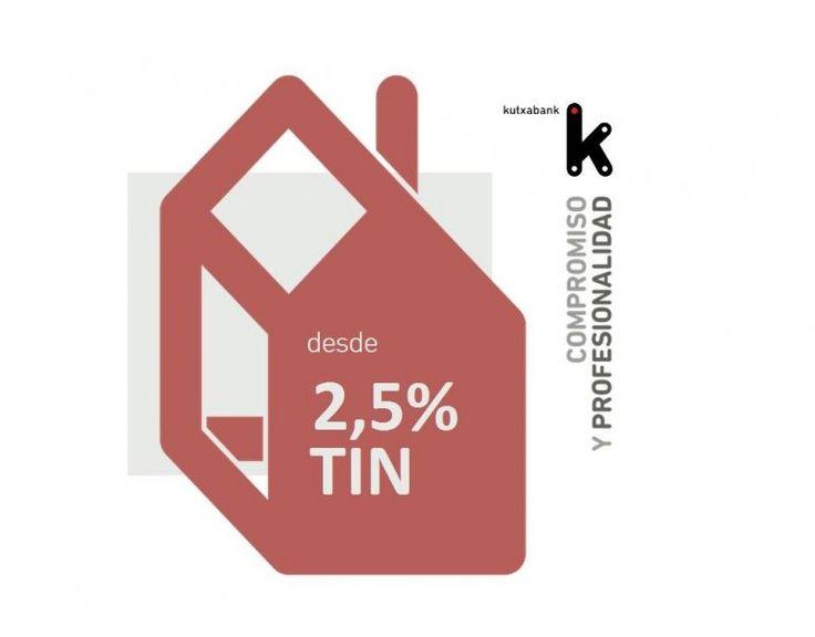 La entidad vasca Kutxabank ha lanzado esta semana una nueva hipoteca a tipo fijo con un interesante tipo de interés:2,5 % TIN. Se trata del interés más bajo del mercado para un préstamo de hasta 3...
