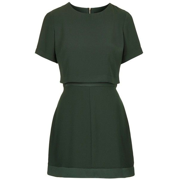 Women's Topshop Satin Trim Overlay Dress (€72) ❤ liked on Polyvore featuring dresses, vestidos, short dresses, tops, woven dress, mini dress, topshop dresses and braid dress